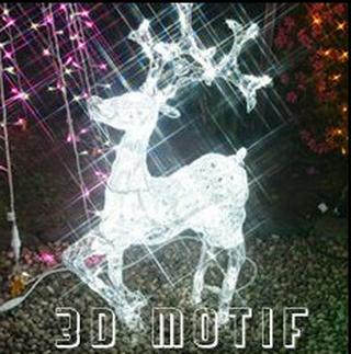 クリスマス イルミネーション LED モチーフ LEDクリスタルトナカイ/L3D113.png