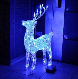 クリスマスイルミネーション LEDトナカイ(ブルー)自動点灯機能付.png